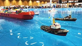 RC boat show tanker, warship, submarine - water world Wels 2017