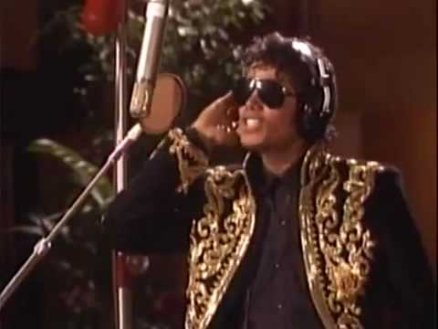 -Rare- Michael Jackson In The Studio Recording  We Are The World