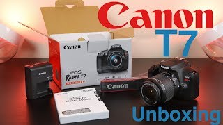 Canon T7 (1500D) Unboxing & First Impressions
