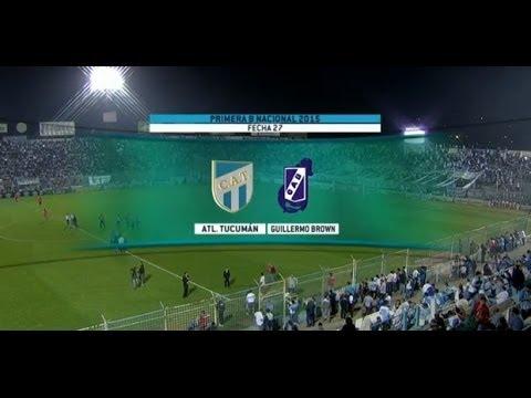 Fútbol en vivo. Atle. Tucumán - G. Brown Madryn Fecha 27 del torneo de Primera B Nacional.