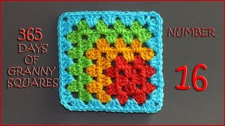 365 Days of Granny Squares Number 16