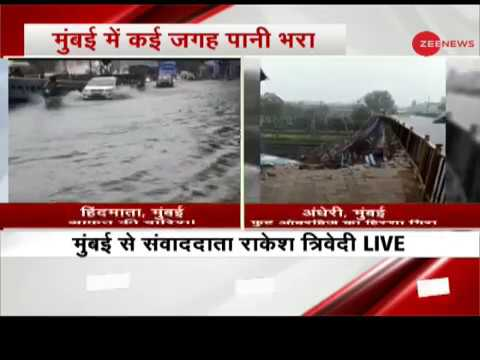 Heavy rains in Mumbai; Portion of footover bridge collapses near Andheri