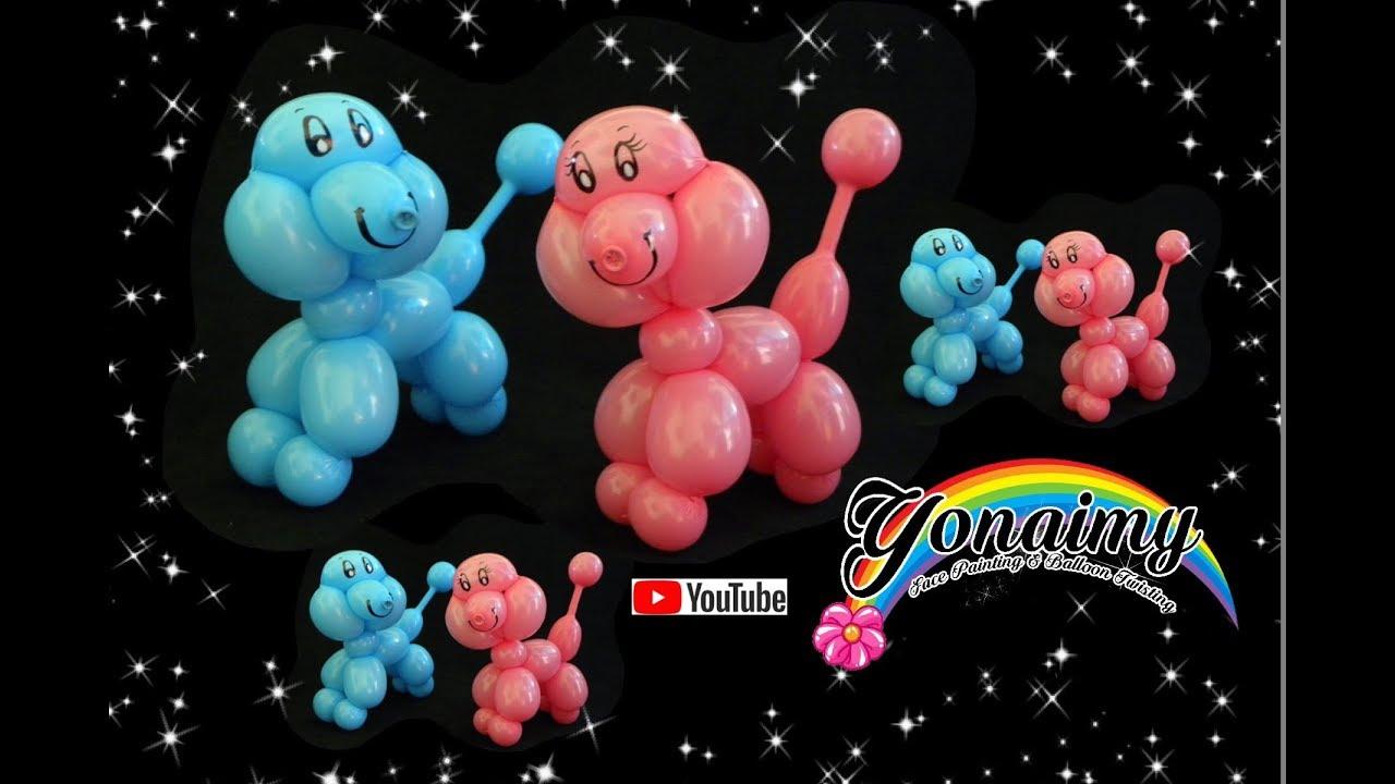 Como hacer un perrito poodle globoflexia youtube - Hacer munecos con globos ...
