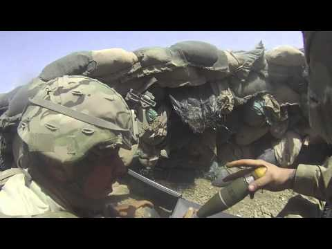 BATTLE COMPANY1-28INF MORTAR SECTION VIDEO 12-13' FOB TILLMAN