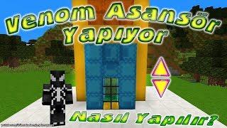 Venom Minecraft'ta Asansör Yapımını Gösteriyor Asansör Nasıl Yapılır ?