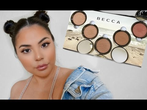BECCA Sunlit Bronzers First Impressions Swatches + Demo!