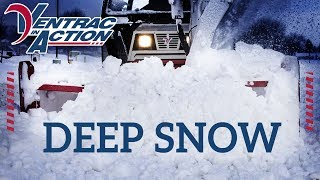 Removing Deep Snow From Sidewalks with the Ventrac Snow Blower