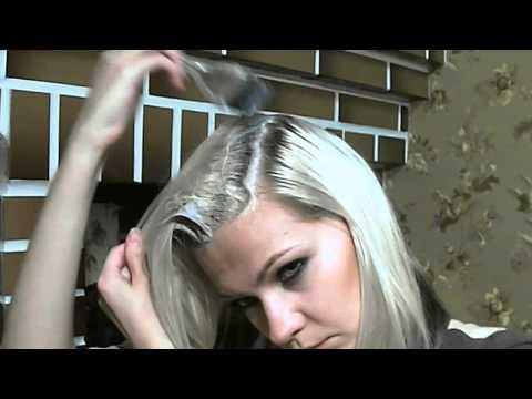 Видео как покрасить волосы