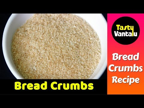 Home made Bread crumbs in Telugu by Tasty Vantalu