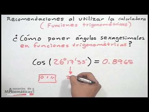 Recomendaciones al usar la calculadora en trigonometría - HD