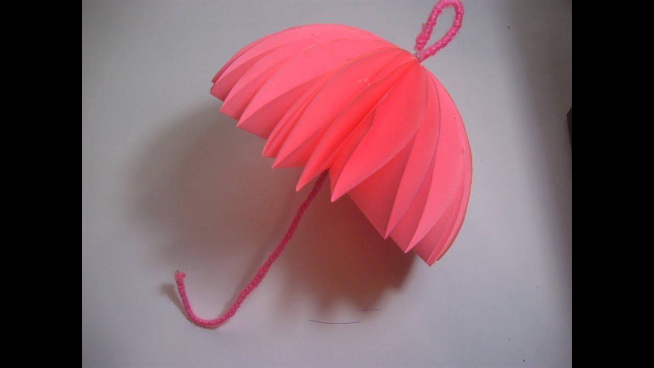 Как сделать большой зонтик из бумаги своими руками 77