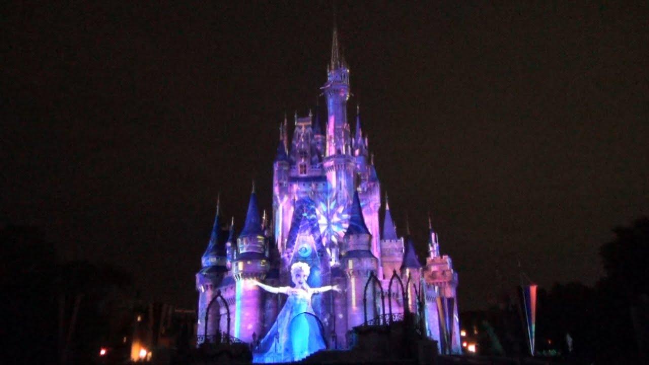 Frozen Segment Of Celebrate The Magic Cinderella Castle