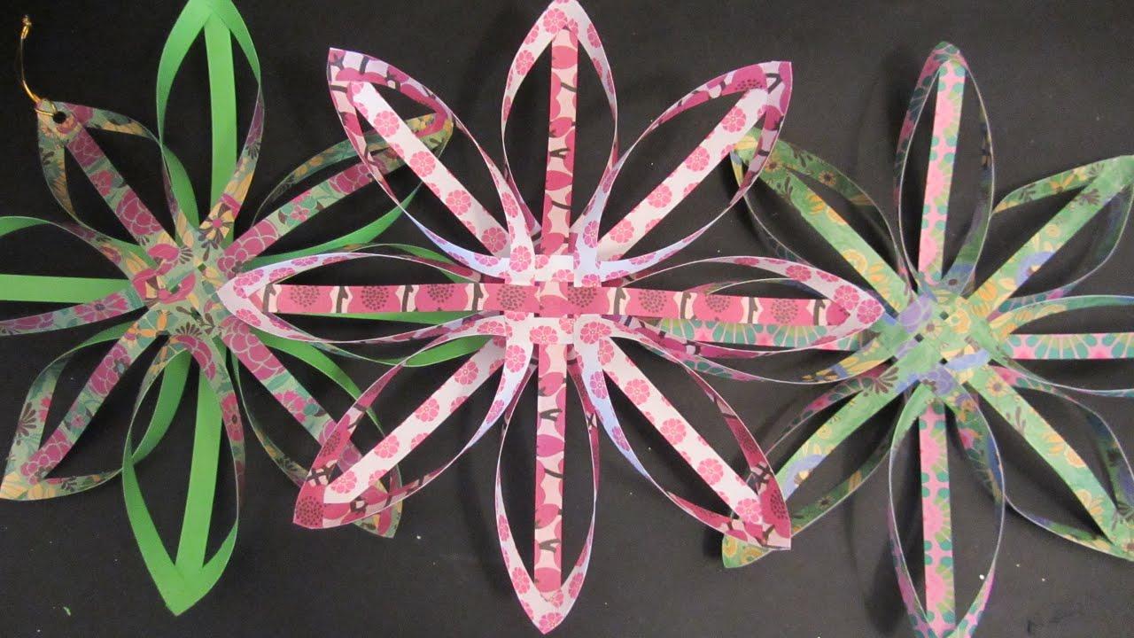 Tutorial estrella de papel para decorar youtube - Estrellas de papel ...