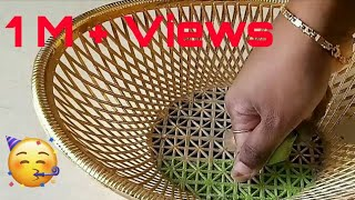 Creative Art Rangoli Design using Basket| Rangoli for beginners
