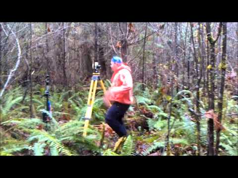 Land surveyor's having fun!