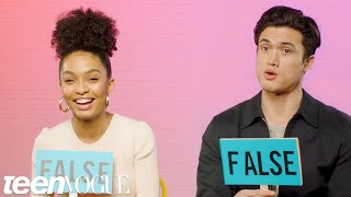 Yara Shahidi and Charles Melton Play 'Fact or Fiction' | Teen Vogue