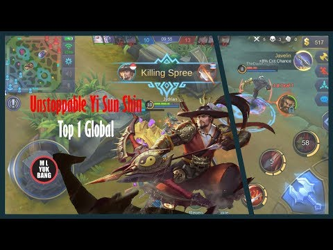 Top 1 Global Yi Sun Shin by ❀GC✿  半度ღ  The Unstoppable Marksman   Mobile Legends Indonesia