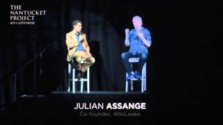 Julian Assange Gives Virtual High-Five As He Appears As 3D Hologram
