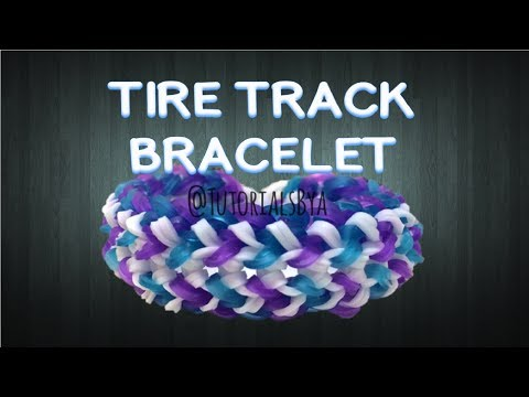 NEW Tire Track Rainbow Loom Bracelet Tutorial