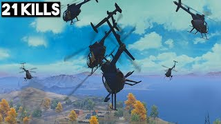 HOW TO FLY HELICOPTERS! | 21 KILLS SOLO vs SQUAD | PUBG Mobile