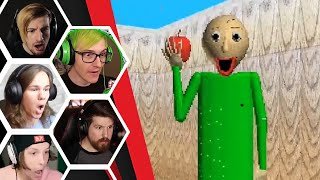 Let's Players Reaction To Giving Baldi An Apple | Baldi's Basics Public Demo