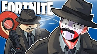 FORTNITE BR - DETECTIVE'S ON THE CASE! (Funny Moments) Looking for clues!