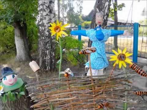 Как украсить двор летом своими руками