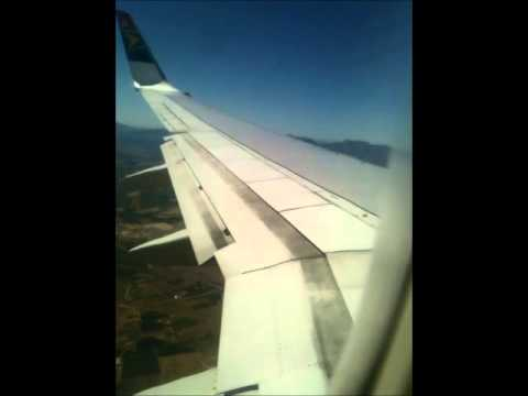 south african airways 737 takoff and landing joburg to cape town
