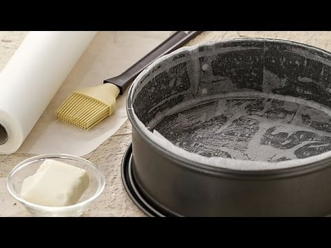 How To Line A Cake Pan Cooking Tutorial Youtube
