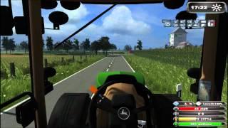 Farming, Simulator, 2011, John, Deere, 7930, 6310, Big, Baller, Dansk, Danish, Mosbach, Map, Tractor
