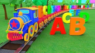 ABC Alphabet | ABC Song | Train Adventure | 3D Nursery Rhymes | Baby Songs | ABC Songs For Children