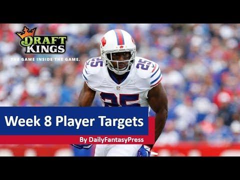 2017 NFL Week 8 DraftKings Picks
