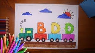 Bé học chữ cái bằng phương pháp tô màu chữ  B D Đ