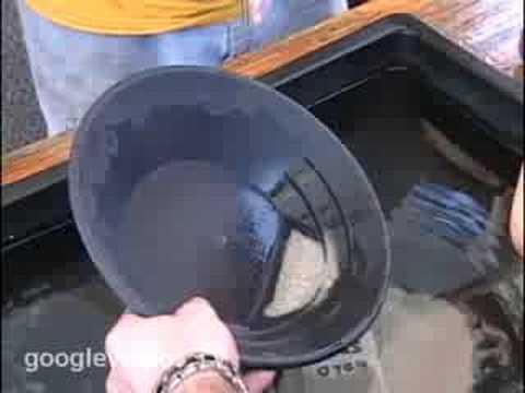 Gold panning tricks