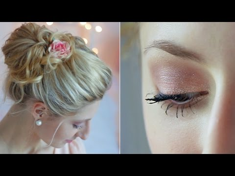 Natural Make-Up & Messy Chignon ♥