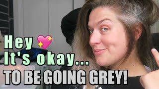 Hey it's ok to be going grey! | LoseitlikeLauren
