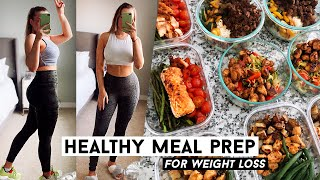 HEALTHY MEAL PREP FOR WEIGHT LOSS! I lost 5 pounds!!