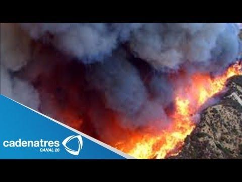 Impresionantes incendios forestales en California / Stunning California wildfires (VIDEO)
