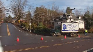 Ice cream truck hits utility pole in Luzerne County