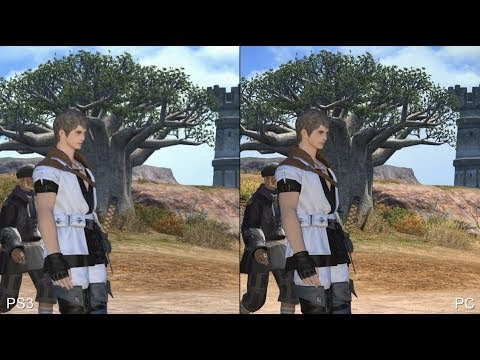 Final Fantasy 14 PS3 vs PC Comparison