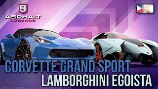 ASPHALT 9: LEGENDS - Corvette Grand Sport / Lamborghini Egoista Encore