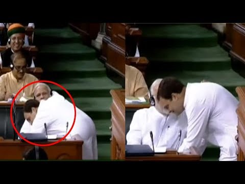 Rahul Gandhi Hugs Pm Modi AT Lok Sabha | No-Confidence Motion in Parliament | Bharat Today