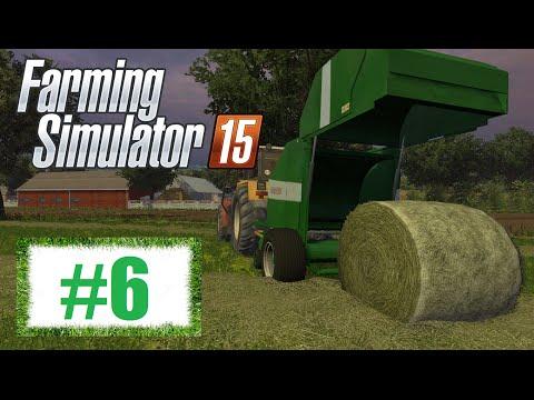Farming Simulator 15 (Boluśowo V1) #6 - Prasowanie i zwożenie bel siana