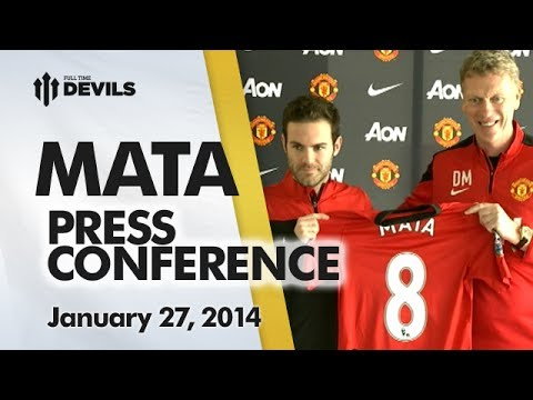 Juan Mata/David Moyes Press Conference | Manchester United