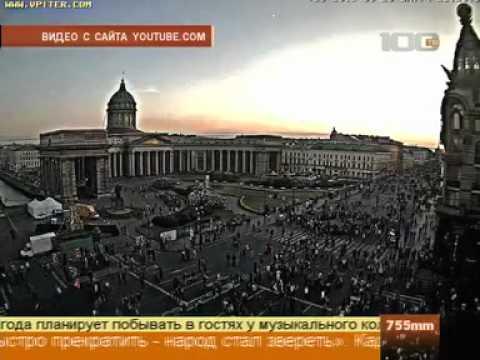 Летающие деньги Павла Дурова в СПб на телеканале 100ТВ.