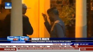 Download Buhari's Health: Acting President Osinbajo Returns From London 3Gp Mp4