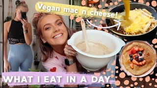 WHAT I EAT IN A DAY! MEAL PREP, 'HEALTHIER' MAC N CHEESE, BANANA BREAD FAIL & MORE! | EmmasRectangle
