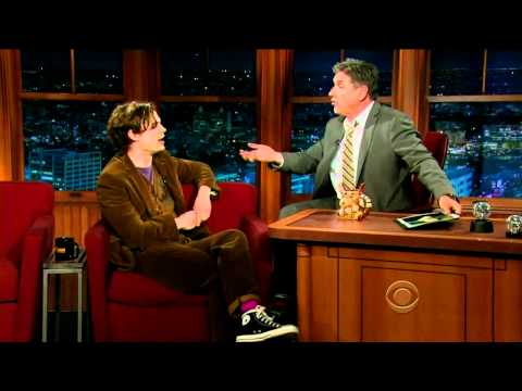 Matthew Gray Gubler on The Late Show 2012.01.03