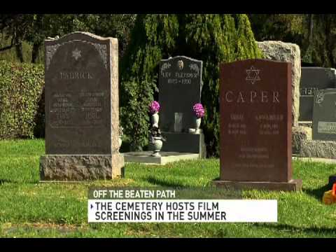 """CNN """"Off the Beaten Path"""" at the Hollywood Forever Cemetery"""