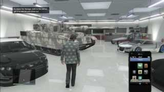 How to store the Rhino Tank in your garage and get insurance GTA 5 Online (Glitch GTA V) (Detailed)